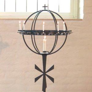 Ljusbärare med sex tända ljus